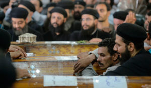 Coptic Christians mourn victims of the caravan attack