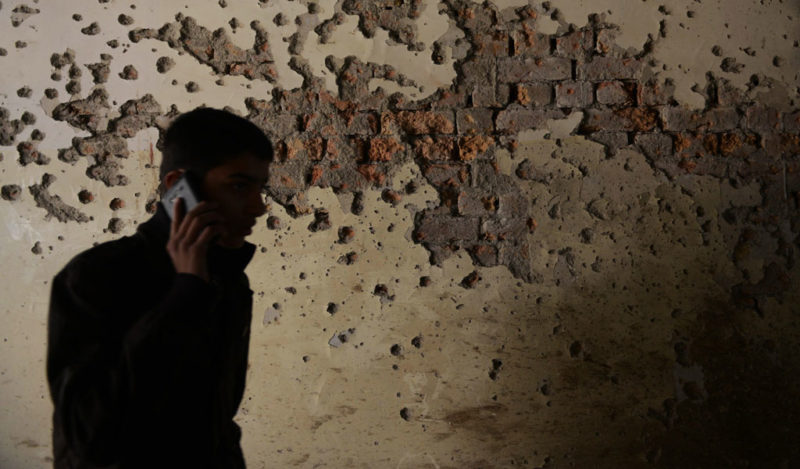 Pakistani school boy at site of an attack by the Taliban (Illustrative photo: A Majeed/AFP/Getty Images)