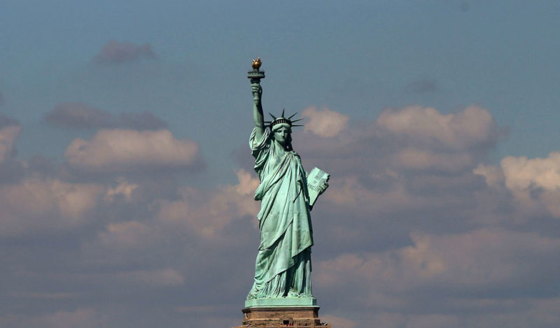 The Statue of Liberty: a symbol for asylum seekers.
