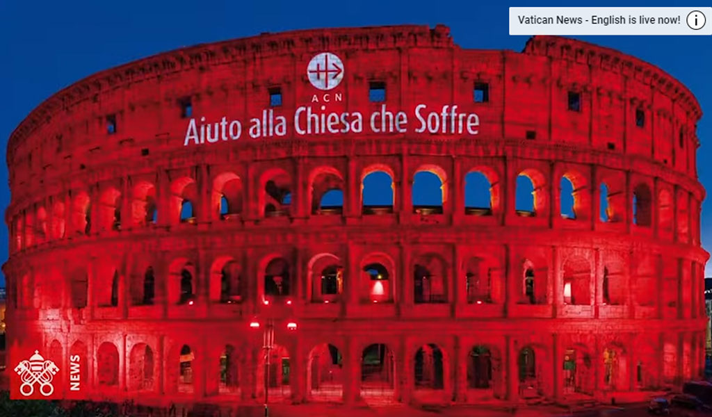 Colosseum Lit Up in Red for Persecuted Faiths